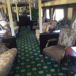 Inside a dining car