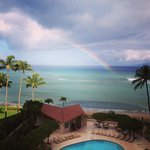View from our room complete witha rainbow!