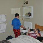 Sink inside room