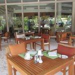 tables in the sand (breakfast/dinner restaurant)