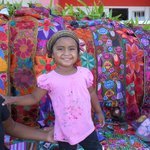 Mayan Child with handmade-crafts sold on beach