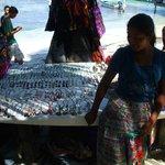 Mayan woman selling arts and craft