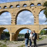 at the Pont du Gard