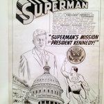 Artwork for the special Superman issue dedicated to JFK's advocacy of physical fitness