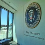 Presidential Seal at lobby of library