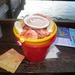 Dont miss a bucket of prawns!