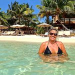 Kim loving the warm crystal clear Caribbean waters
