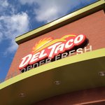 Sign over the main entrance, Del Taco in Moore, OK.