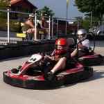 racing the red karts