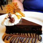 Chocolate hazelnut tort...this is addictive.