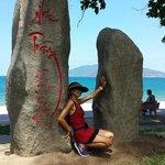 Nha Trang sign at beach