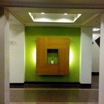 wall decor between elevators