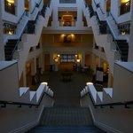 Interior of hotel.