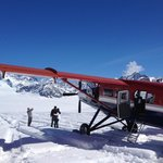 Landing on Ruth Glacier - June 4th 2014