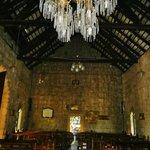the antique chandelier