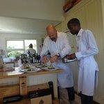 Chef Bruce and team prepare to serve