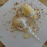 Deconstructed lemon meringue pie