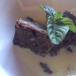Brownie con vainilla