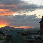 vue du paysage au coucher du soleil