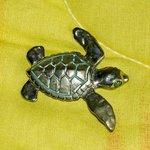 Turtle Pendant in Bronze