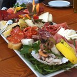 The massive Antipasti plate
