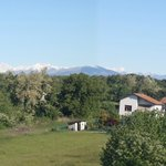 View of the alps from the veranda