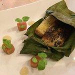 Foie, seared with truffle, salt rhubarb, tokaj jelly. Perfection.