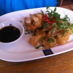 Tempura battered squid