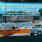 Transportación upon clients request