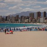 the lovely poniente beach