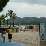 Alcudia beach from outside hotel