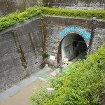 トンネル上から