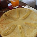 Dutch pancake with Thai banana...a lots of potassium. It is recommended dish by the resort.