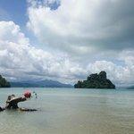 Rampant from Pulau Singa Besar island beach