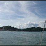 panoramic view Resorts World harbour