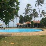 the quiet pool area