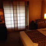 Rooms have a classic Japanese theme.