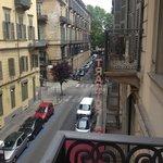 Via Saluzzo vista dal balcone della camera 203