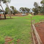 Our grassy patch, Ayers Rock Camp Ground