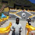 At the peak of Tian shan Lake