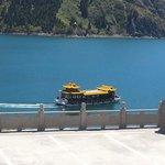 Boat at Tian Shan lake