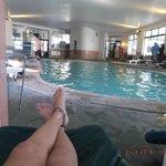 Una de las piscinas intenas