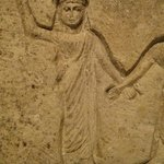 Detail of a Coptic (Egyptian) funerary stele, 3rd–4th c. CE.