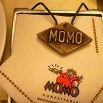 Detalhe do porta guardanapo (bem tradicional) da Momo Confeitaria
