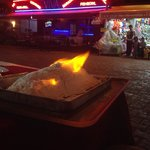 Baked sea bass in salt. Perfect