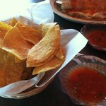 complimentary chips and homemade salsa