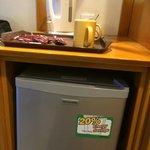 Coffee and fridge