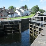 The Caledonian Canal locks - fascinating to watch!