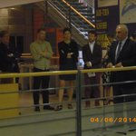 inauguration d'une exposition temporaire par le 1er adjoint au Maire de Lyon