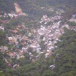 Vista di favela  Santa Marta da Cristo Redentor